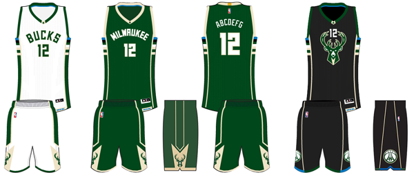 6f3d78f6b9bc Milwaukee Bucks current uniforms