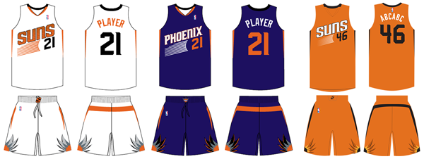 21a1e9407b6 Phoenix Suns current uniforms