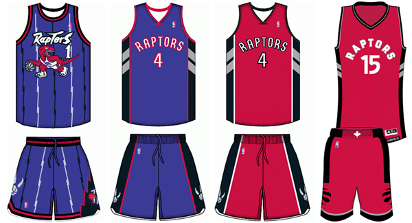ae20f9edc74 Toronto Raptors uniform history